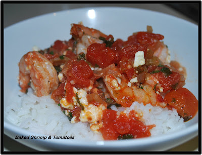 Passion Foodie: Baked Shrimp with Tomatoes and Feta