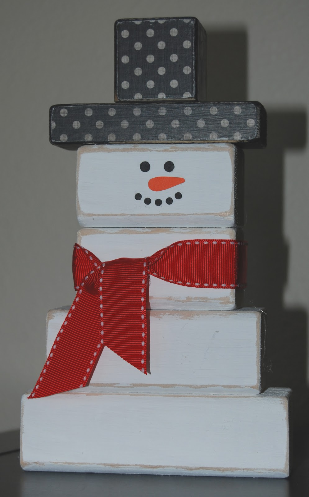 Wooden Blocks For Crafts ~ Nap time crafts snowman