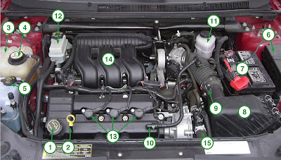 how to matthew under the hood 2007 ford five hundred 3 0l rh howtomatthew blogspot com Ford 3.0L Engine Ford Remanufactured Engines