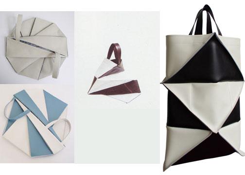 Bolsa Em Origami De Tecido : Origami folhas de arte bolsas em tecido