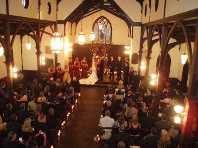 Fabulous Candlelight Wedding for Courtney and Denny at All Saints Chapel