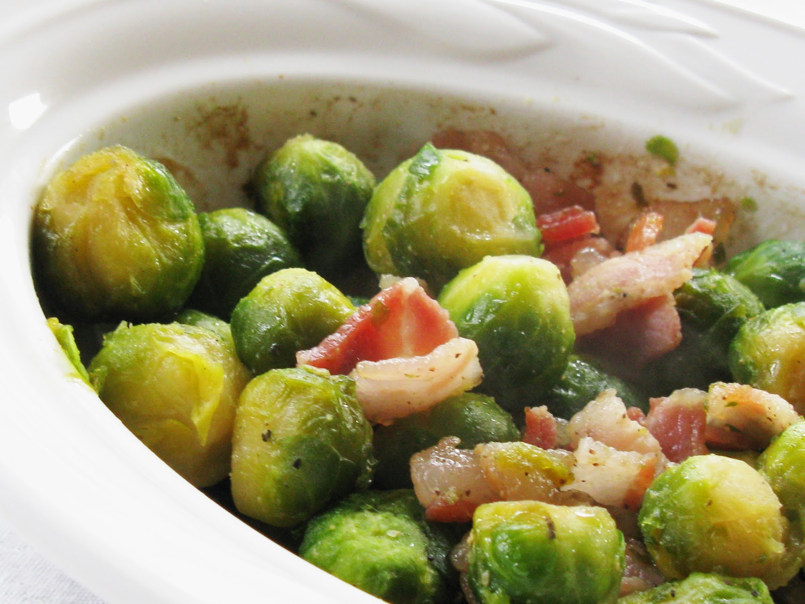 Food for A Hungry Soul: Brussels Sprouts with Bacon and Maple Syrup