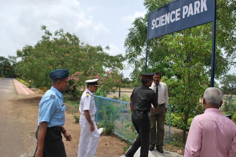 Maj Gen VSS Goudar welcomed to the Science Park