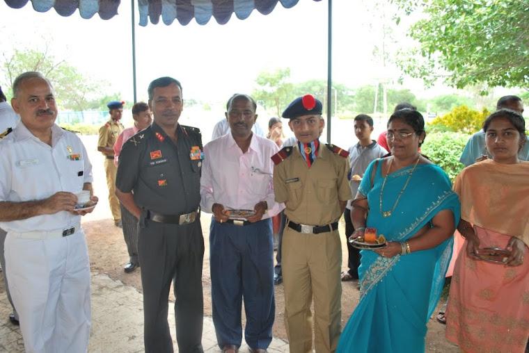 Maj Gen VSS Goudar -Photo session with Parents