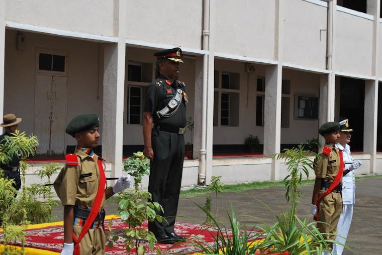 Major General VSS Goudar at the Guard of Honour
