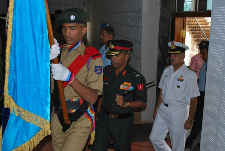 Chief Guest Major General VSS Goudar is escourted to the Venue