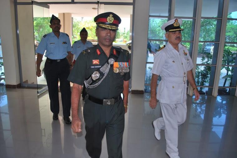 Major General VSS Goudar arrives