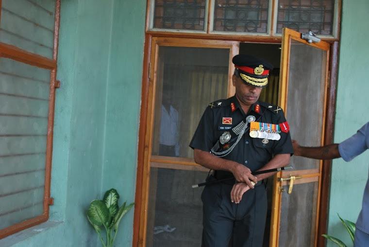 Major General VSS Goudar at the Ajeet Bhavan