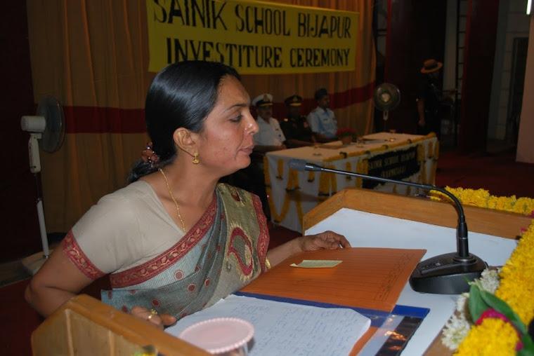 Mrs. Asha Nair, English Teacher ,Master of Ceremony