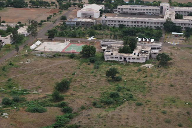 Sainik School Bijapur-Mess and the Main building in front