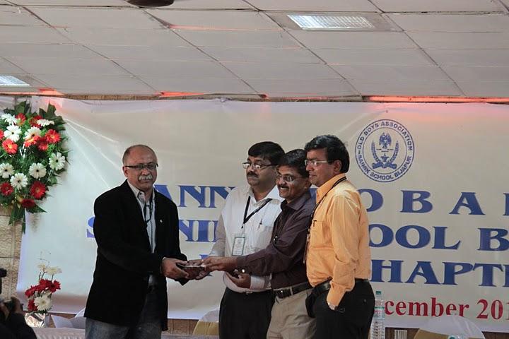 Sunil M Potdar,443,Vij,Vice President,Belgaum Chapter receiving Cheque for 5 lakhs