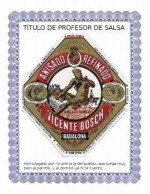 Título profesor de salsa