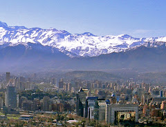 The skyline of Santiago
