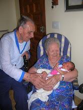 La bisabuela Angeles y el bisabuelo Landelino