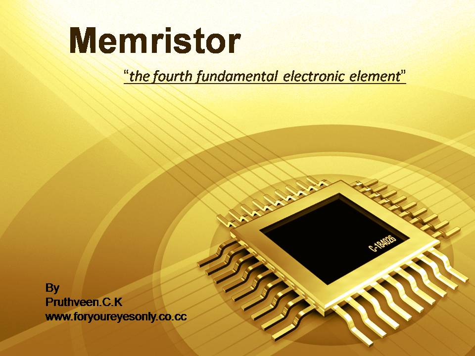 application of memristors