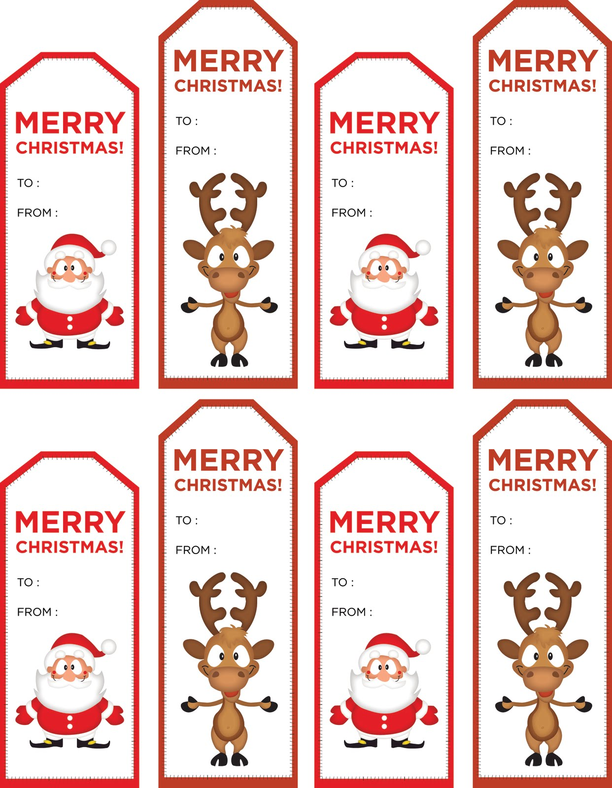 Clean image regarding cute gift tags printable