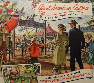 three 1940s ads illustrating