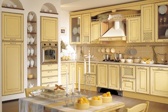 italian style wooden kitchen design from provenzale patinata