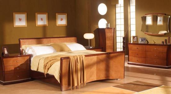 Interiors the contemporary bedroom design for Modern art deco bedroom furniture