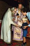 Cu părintele Sofronie la Liturghie