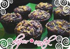 muffin ubi boled ungu dapur cantik