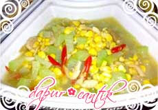 sayur waluh jagung pipil dapur cantik