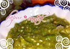 resep dasar sambal hijau ala dc dapur cantik