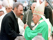 Fidel recebe o Papa João Paulo II em Cuba