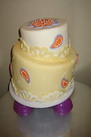 2-tier fondant whimsical