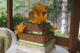 3-tier square chocolate buttercream