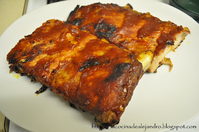 Costillitas De Cerdo Con Salsa Barbacoa...
