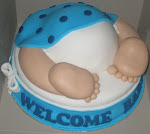 Baby bum cake for baby shower