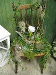 Blomstertokig stol