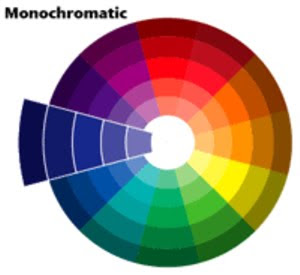 Monochromatic colors are a color scheme which uses different shades of the  same color, for example, using dark brown, medium brown, and light brown at  the ...