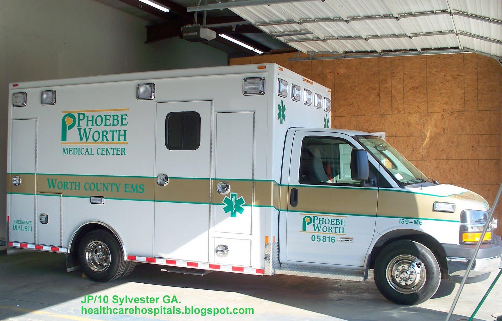 phoebe worth medical center hospital ems ambulance emergency phoebe worth medical center hospitals ems ambulance emergency medical services sylvester worth county ga