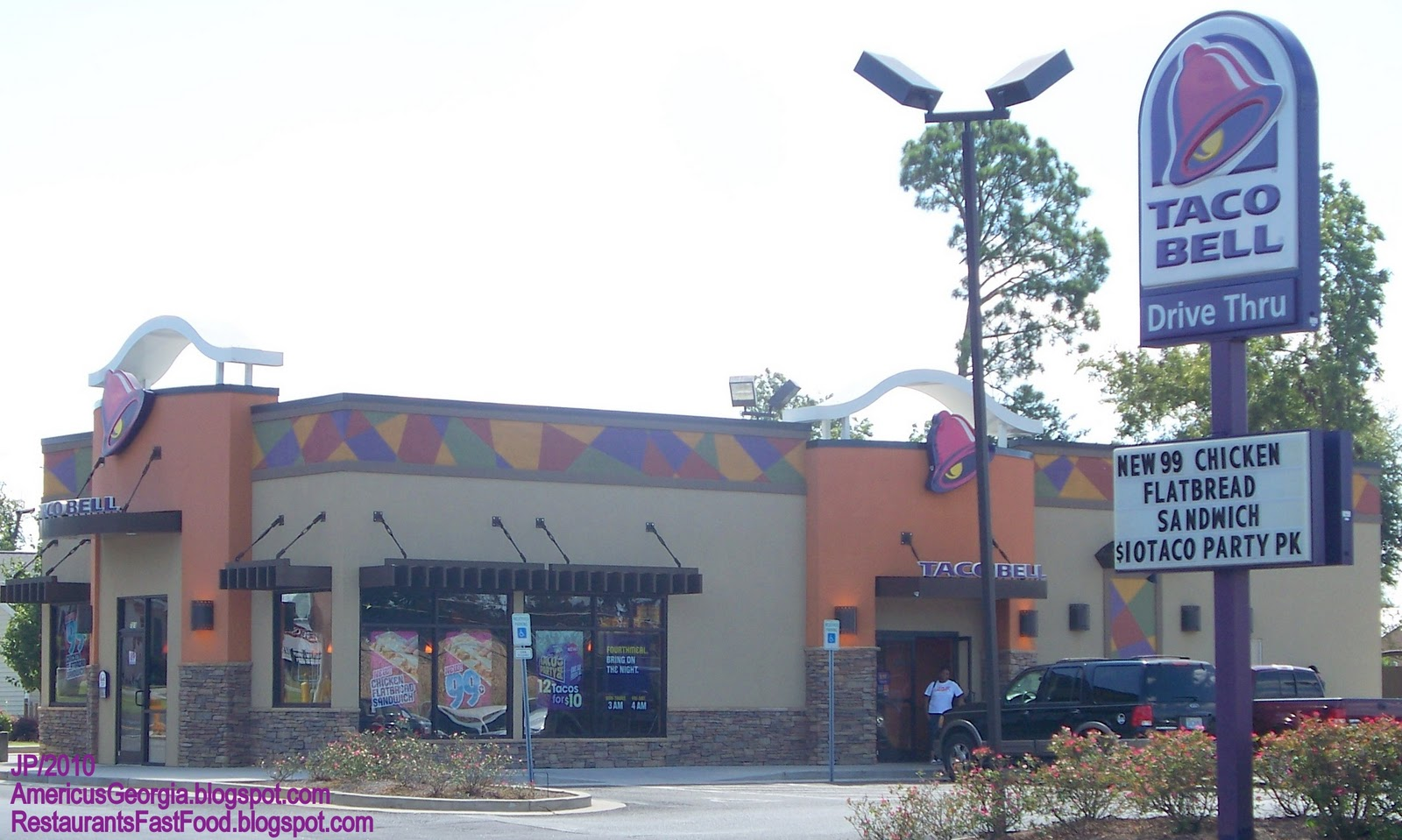 Taco Bell Americus Georgia East Forsyth Street Mexican Fast Food Restaurant Sumter County