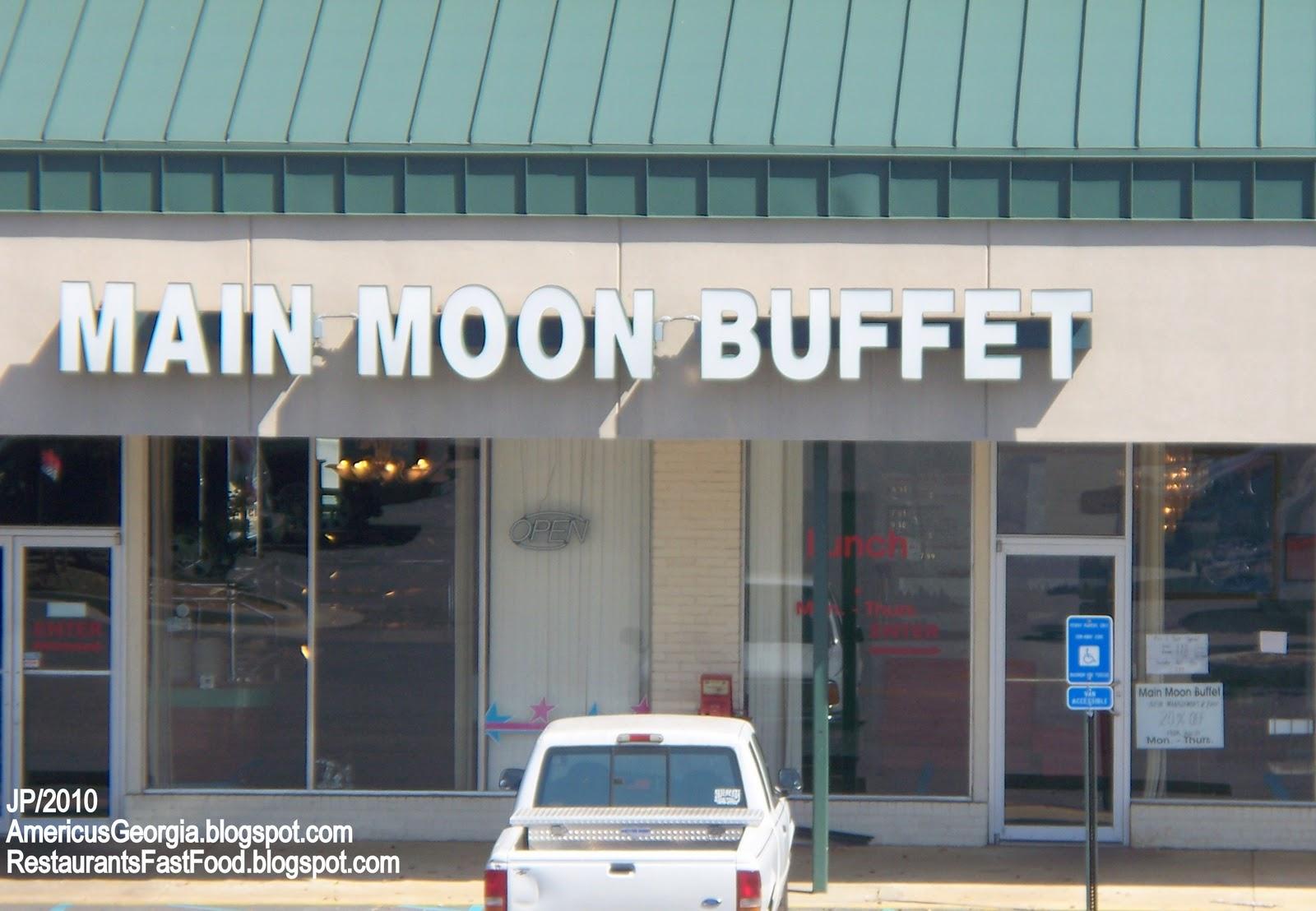Main Moon Chinese Buffet Restaurant Americus Georgia Food Ga