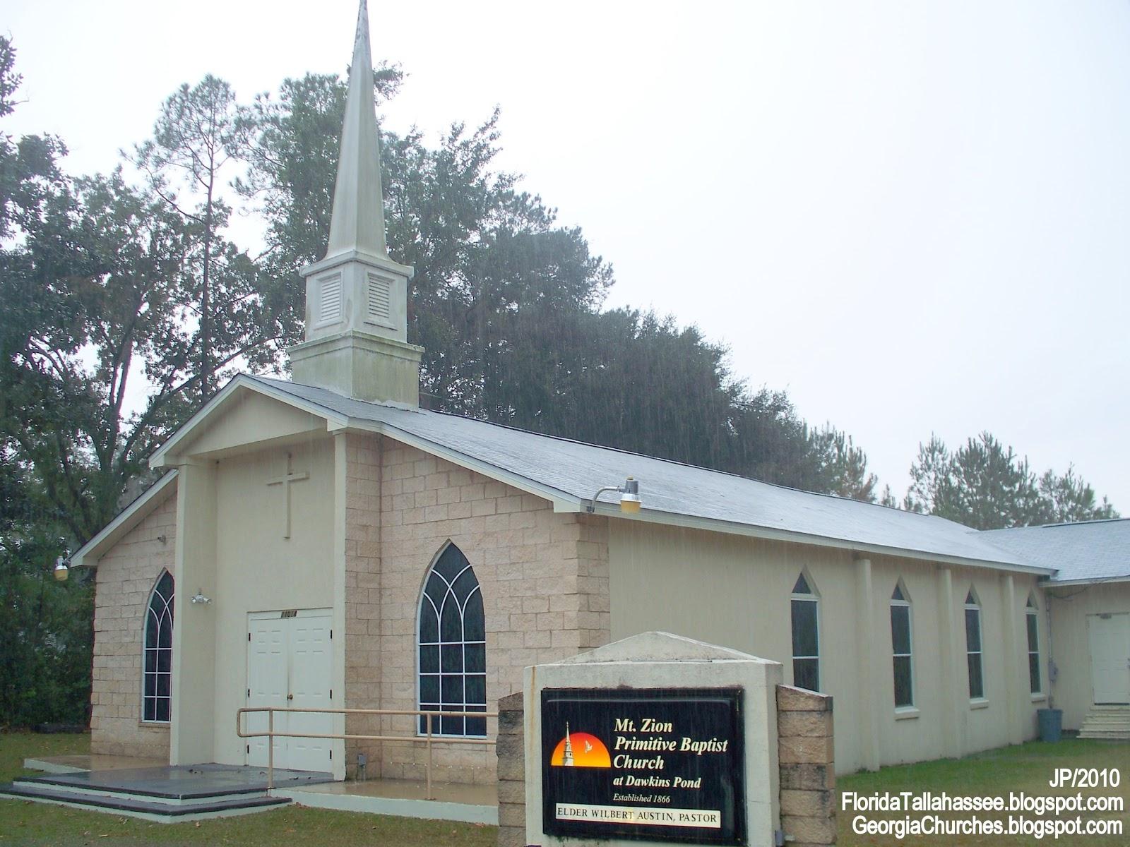 Wonderful Baptist Churches In Tallahassee Fl #1: BAPTIST+CHURCHES,+Mt.+ZION+BAPTIST+CHURCH,Mt.+Zion+Primitive+at+Dawkins+Pond,Tallahassee+Florida+Leon+County.JPG