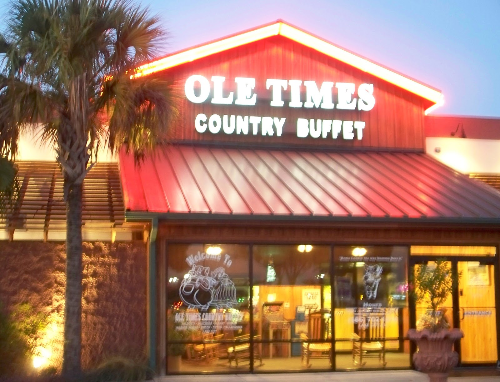 Visit Ole Times Country Buffet for lunch or dinner 7 days a week. Ask about our catering and carryout options. Ask about our catering and carryout options. Take advantage of our senior citizen discounts and special rates for children ages 4 to 9.