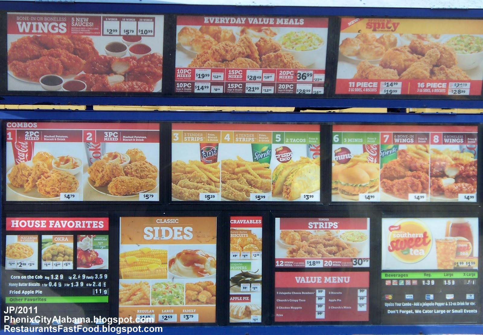 Hwy. 280 church's fried chicken fast food restaurant phenix city al