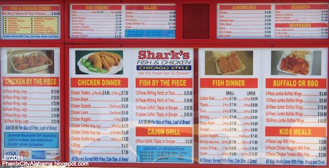 Popeyes food menu for J and j fish menu