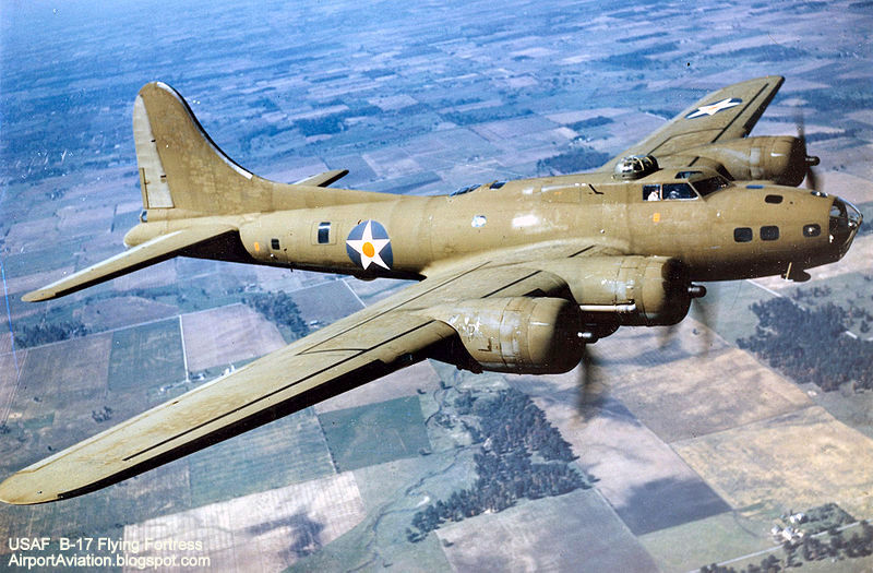 Boeing b 17e in flight u s air force photo the flying fortress