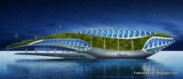 Kapal Ini Dapat Menghasilkan Energi Sendiri Dengan Listrik Tenaga  Surya Dan Turbin Hidro