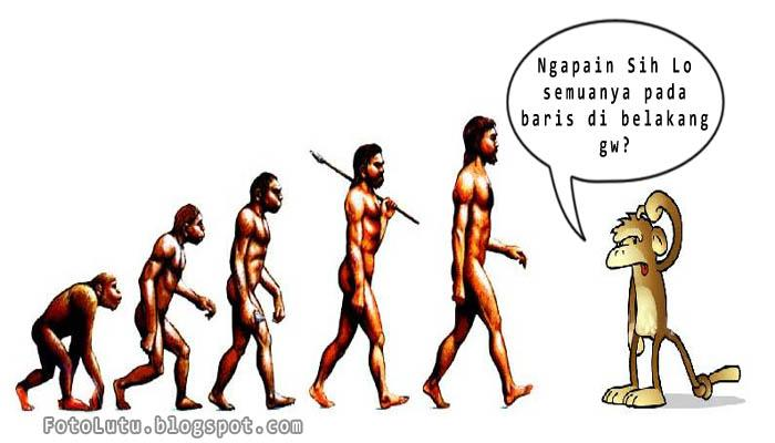 Kenapa Teori Evolusi Selalu Digambar Berbaris