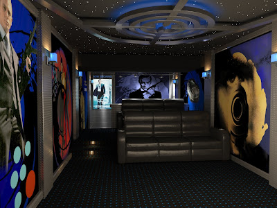 Home Theater Design And Beyond By 3 D Squared Inc James Bond Home Theater Design