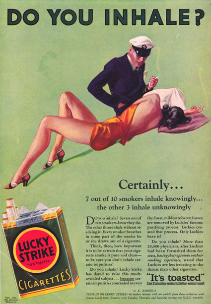 smoking ads. quot;I never smoked a cigarette