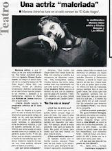 """Diario Noticias - """"Una actriz malcriada"""""""