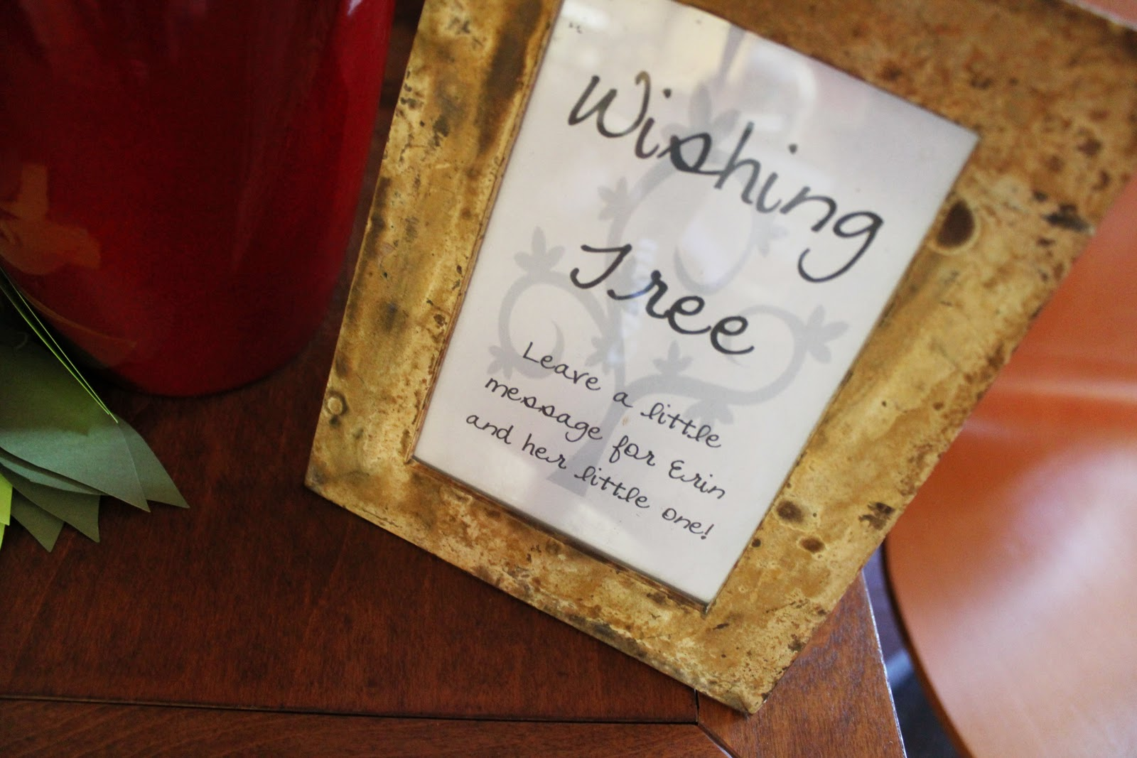 Baby Shower Wish Tree Poem http://iheartlaughing.blogspot.com/2010/10/baby-shower-inspired-by-woodland-forest.html
