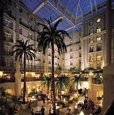 The Landmark Hotel atrium is something to behold