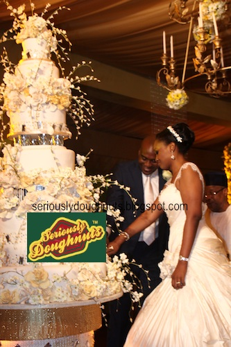 Bella Adenuga Wedding Cake
